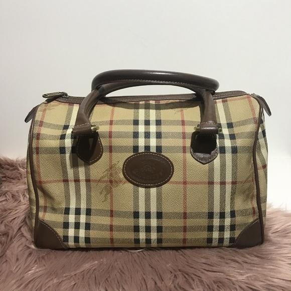 Authentic Burberry Vintage Speedy Bowler Handbag 096044cb209ab